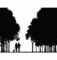 woodland walk vector image