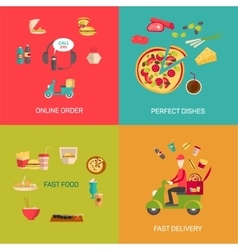 Online food shopping vector