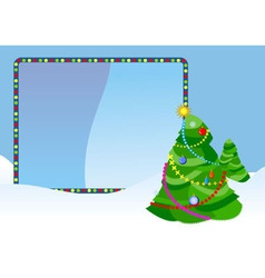 Christmas tree placard vector