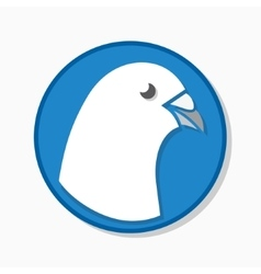 White pigeon logo or icon vector