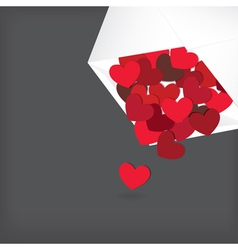hearts in envelope vector image