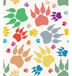 Paw print on white background vector