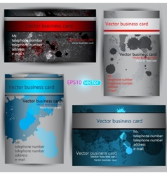 Set of paper business card templates vector
