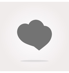 Valentine heart sign heart web button vector image