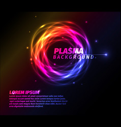 Abstract background with colorful plasma ring vector