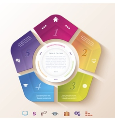 Abstract infographic design with circle vector image vector image