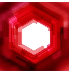 background with red blurred hexagon vector image