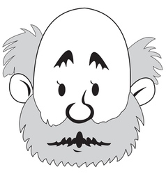 Bald man with a beard vector image vector image