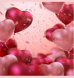 Balloon hearts vector