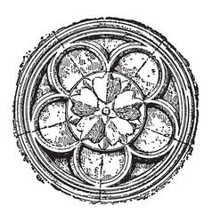 Cinquefoil gothic and islamic architecture vector
