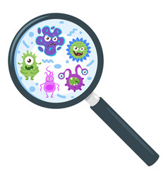 Colorful funny bacteria vector