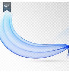 Elegant blue wave background design vector