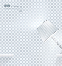 Falling down lamp with light effects on clean vector
