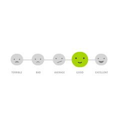 feedback concept design - emotions scale vector image vector image