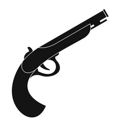 Gun icon simple style vector