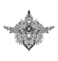 hand drawn ornate flower pattern in vector image