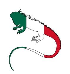 Iguana mexico vector