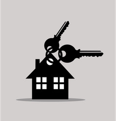 keys and house icons vector image vector image