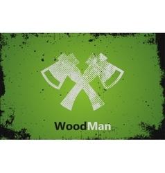 Lumberjack logo woodman logo axes logo design vector