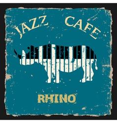 Musical Rhino Conceptual vector image