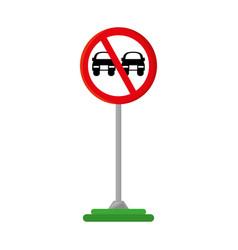 no overtaking traffic signal vector image