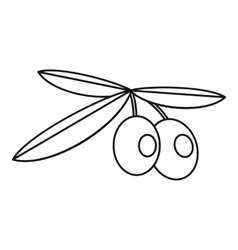 Olives icon outline style vector image