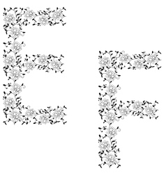 Ornamental letter ef vector