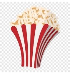 Popcorn cartoon icon vector