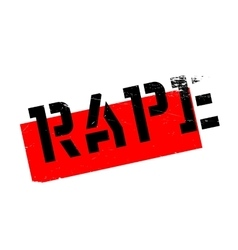 Rape rubber stamp vector image