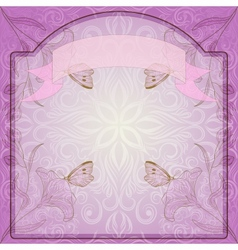 Seamless frame ornate with flowers vector image