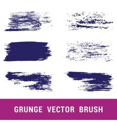 Set of grunge brushes Hand drawn vector image vector image