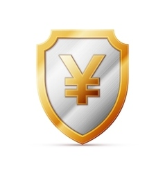 Shield with jpy sign vector