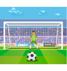 soccer goalkeeper of a vector image vector image
