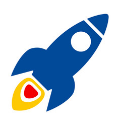space rocket flat icon vector image