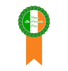 St Patricks day rosette vector image