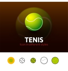 Tennis icon in different style vector