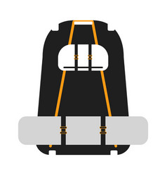 travel backpack on a white background vector image vector image