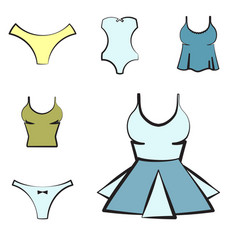 Women underwear or lingerie icon vector