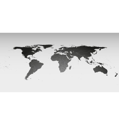 World map in perspective template for business vector image