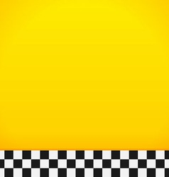 Taxi checkerboard pattern vector