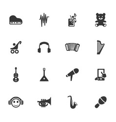 Childrens toys icons set vector