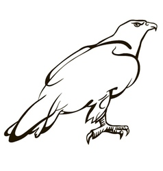 Sitting eagle vector