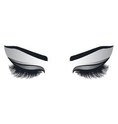 Female eyes with long eyelashes vector