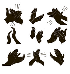 Applause set clapping vector