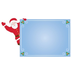 Santa claus with card vector