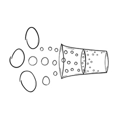 Drink and bubbles vector