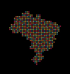 Brazil color dot map abstract style vector