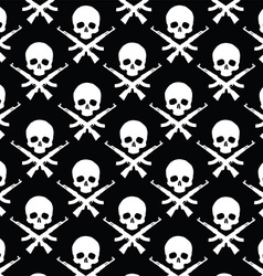 Skull with rifles pattern vector image