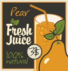 Juice pear vector