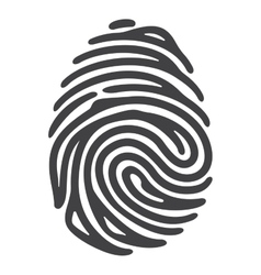 black fingerprint vector image